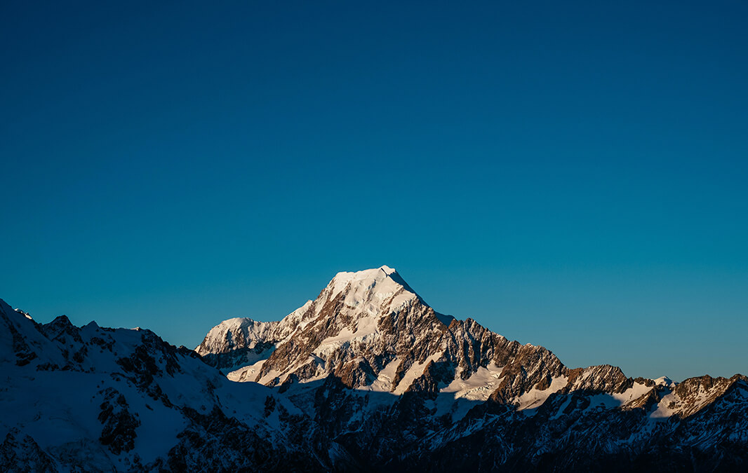 Mountain and blue sky view