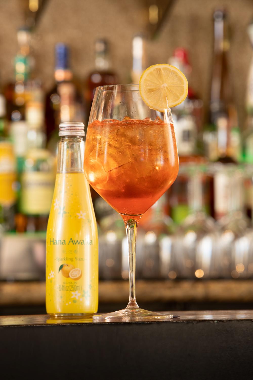 aperol yuzu spritz specialty cocktail