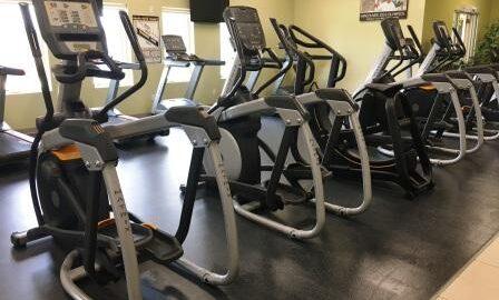 Elliptical machines at Durham Fitness Centre