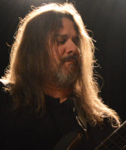 Dave on bass guitar