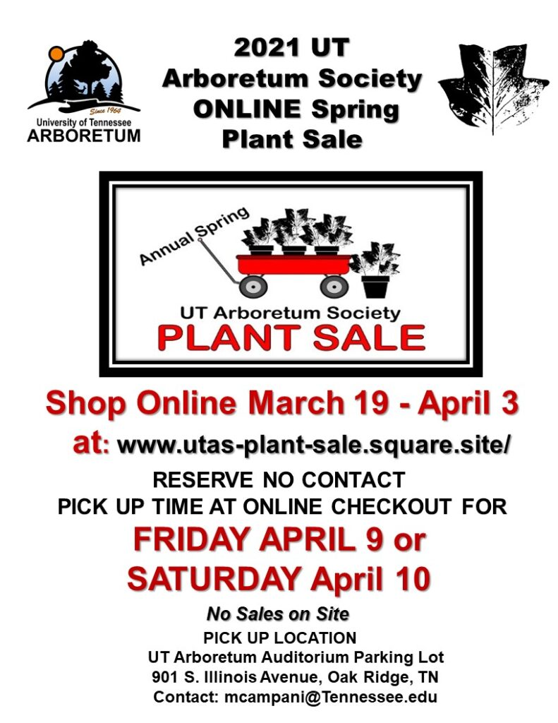 2021 spring plant sale flyer