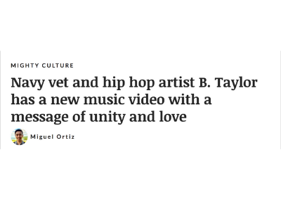 """Hollywood's Military Entertainment Giant """"We Are The Mighty"""" Supports Multi Award Winning Sony artist, B. Taylor's single and music video """"We Are One, Love Is All We Need"""" produced by Alinea"""