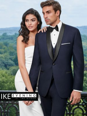 Ike Behar Evening Navy Hudson Tuxedo
