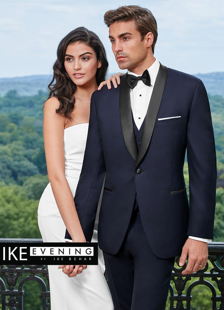 Ike Behar Evening Navy Hudson Tuxedo