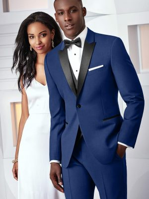 Ultra Slim Cobalt Blue Kenneth Cole Tuxedo