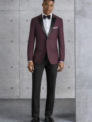 Ultra Slim Burgundy Empire Kenneth Cole Tuxedo