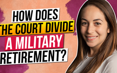 How does the Court divide a military retirement?