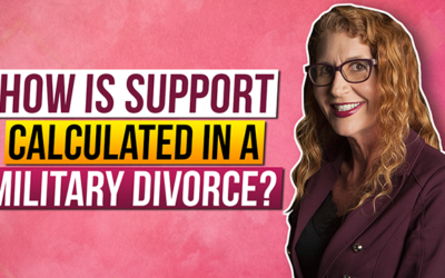 How is support calculated in a Military Divorce?