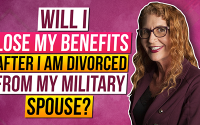 Will I lose my military benefits after I divorce?