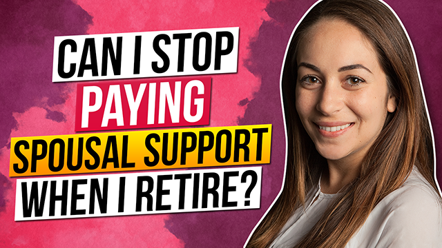 Can I stop paying spousal support when I retire?