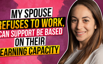 My spouse refuses to work, can support be based on their earning capacity?