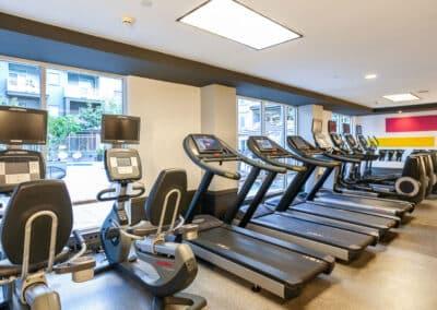 cardio machines inside a fitness center
