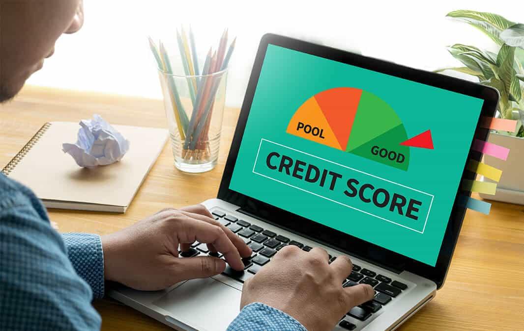 credit score meter pointing to good