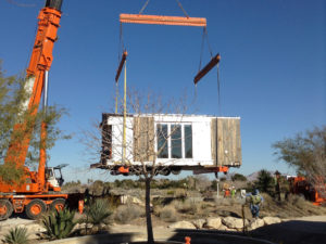 DesertSol being craned into place