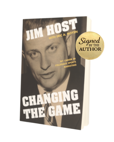 Signed Paperback copy of Jim Host's Changing the Game
