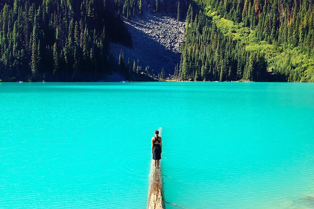 Know thyself - woman and lake