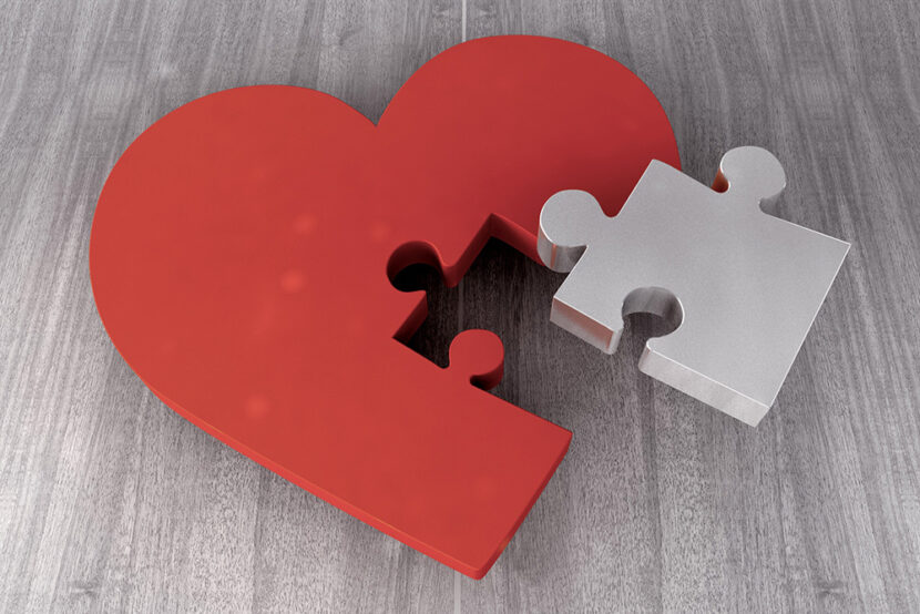 Heart puzzle and attachments