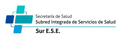 SUBRED INTEGRADA DE DE SERVICIOS DE SALUD SUR