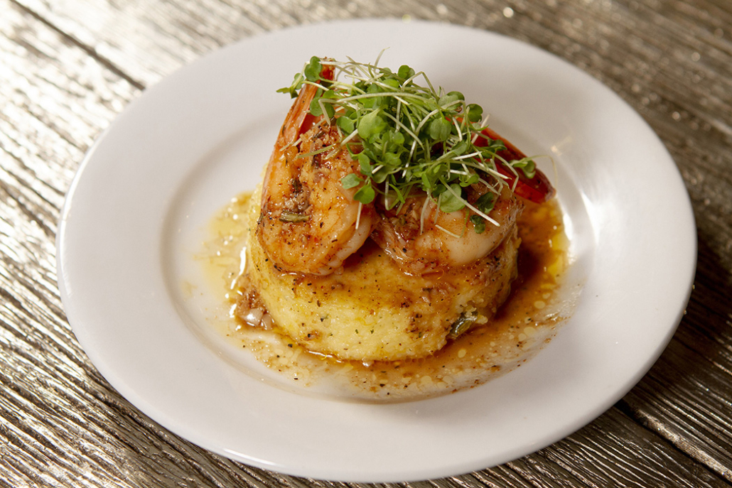 Barbecue Shrimp and Grits by Toulouse Gourmet Catering