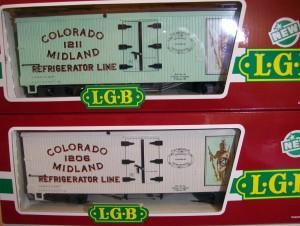 LGB set Colorado Midland RR  1206 & 1211 (1)