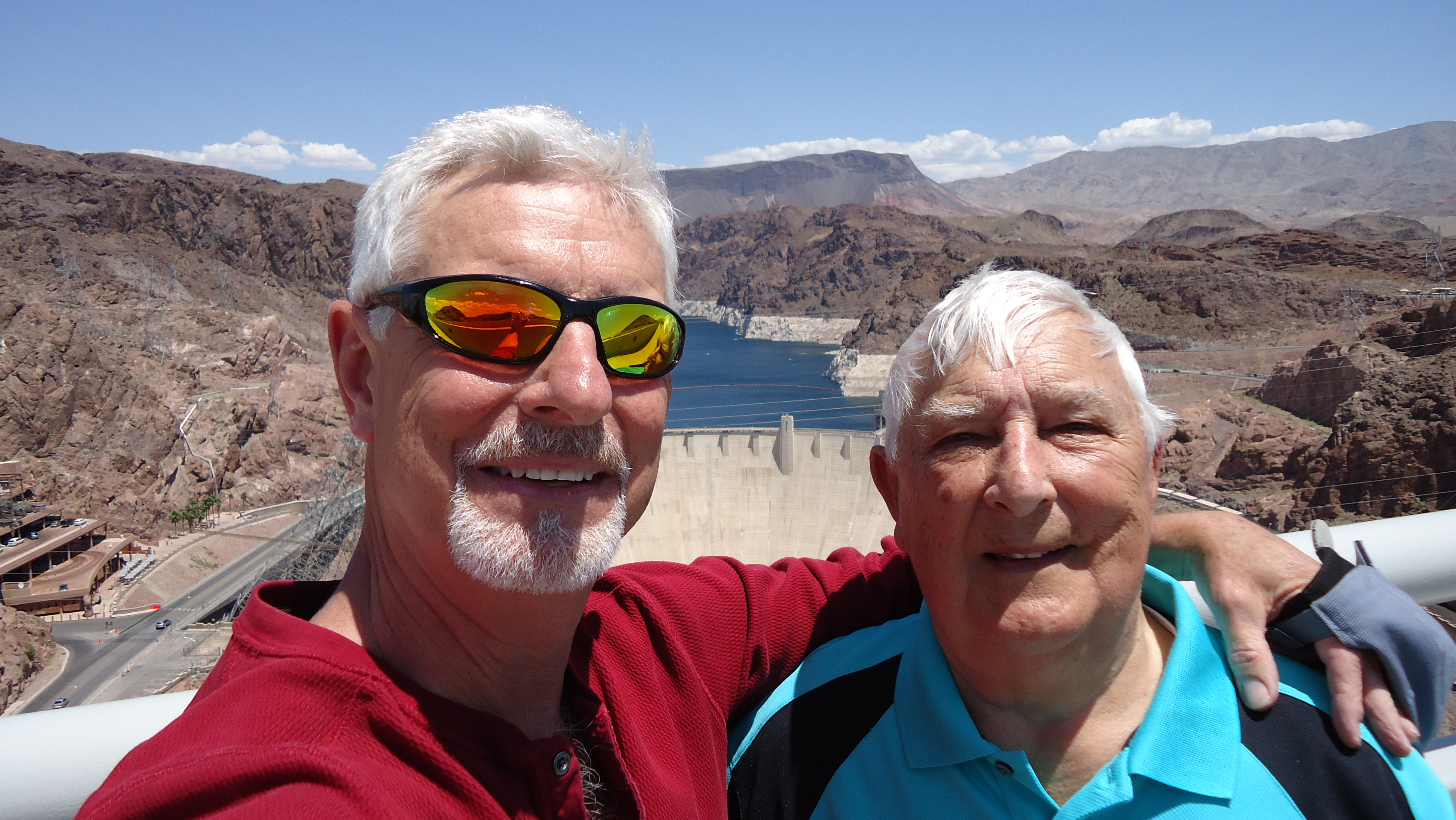 Vance and Pappy at the Hoover Dam