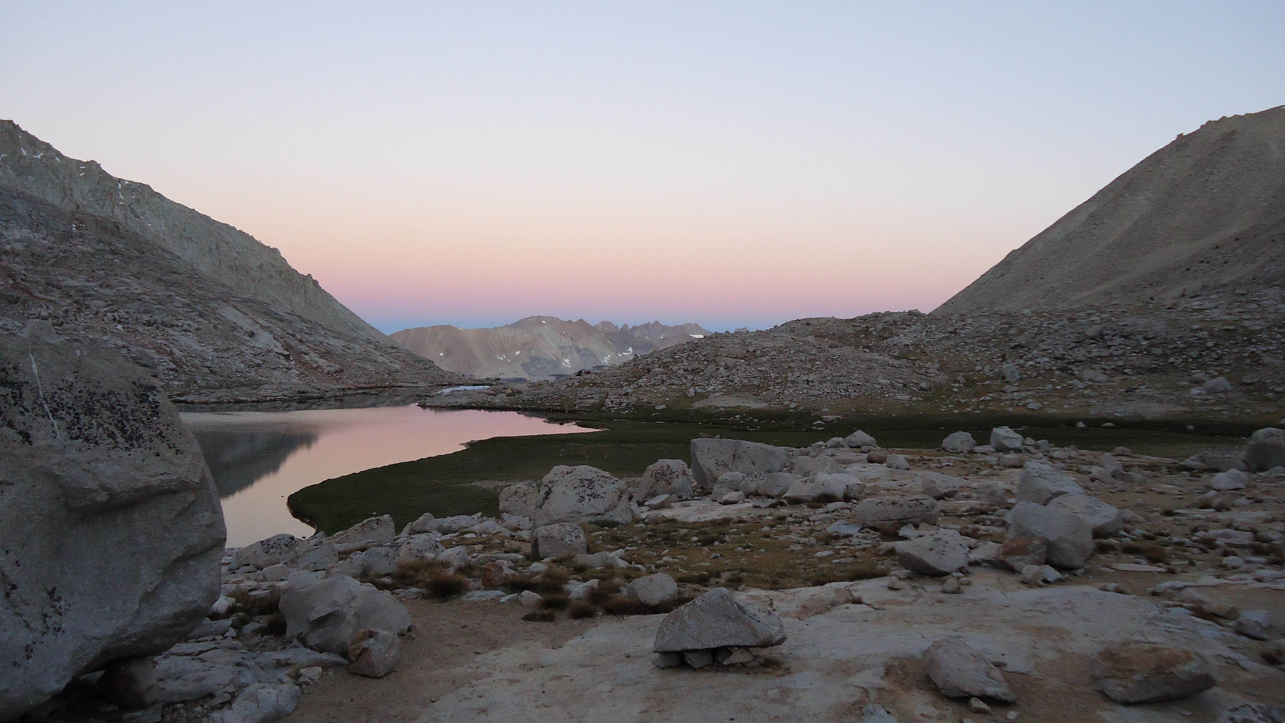 Guitar Lake Morning Alpenglow