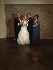 happy couple new orleans wedding reception the cannery