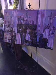 live painter new orleans wedding reception the cannery