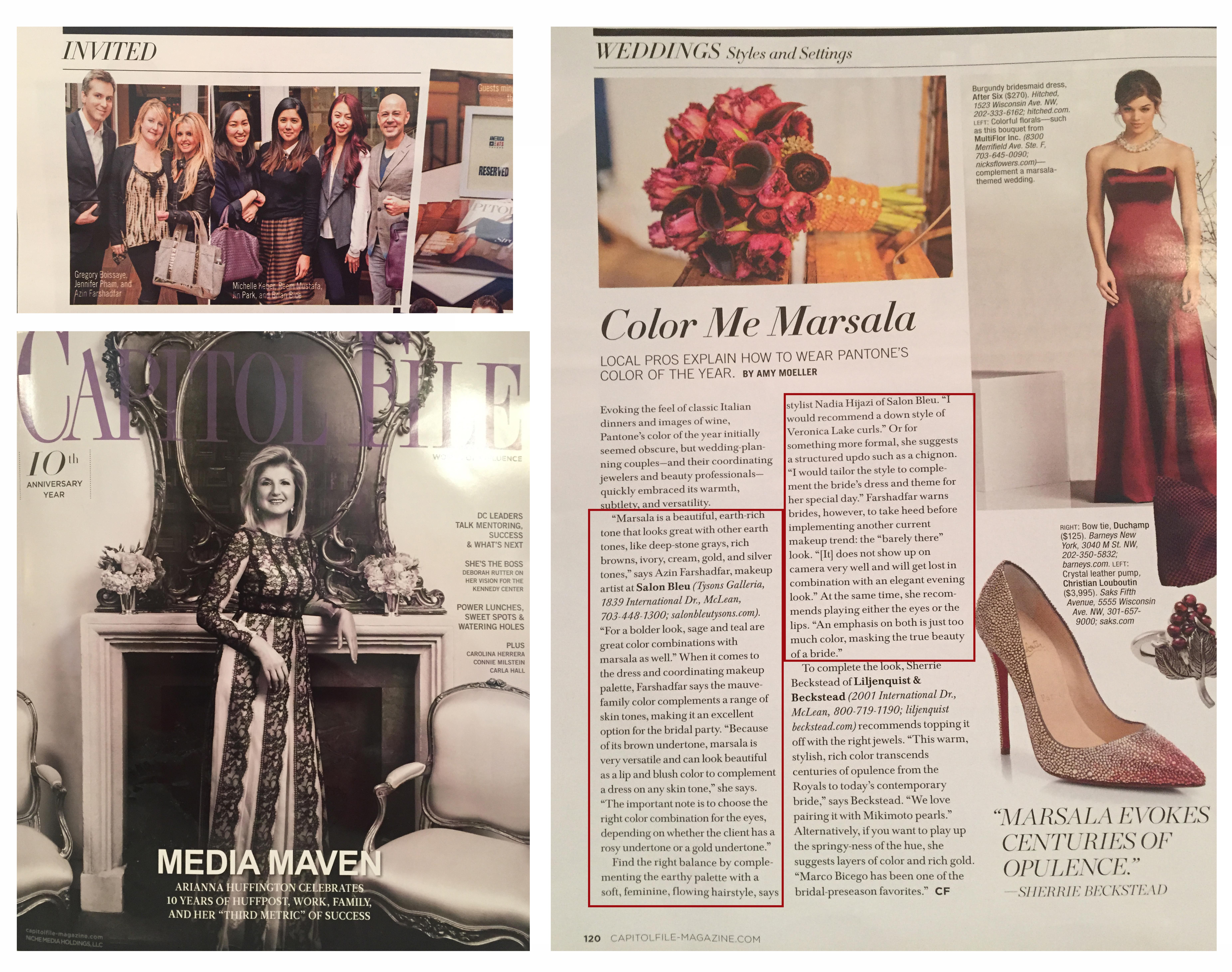 Muse Studios Hair and Makeup Artistry Wedding Bridal Capitol File Magazine - April 2015