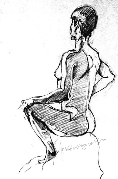 119 Model Sitting 1 (nude)