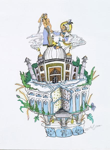 030 Arabian Wedding Cake