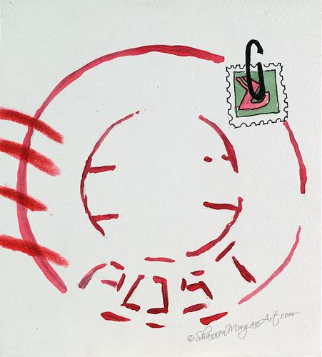 052 Postal Girl - Stamp