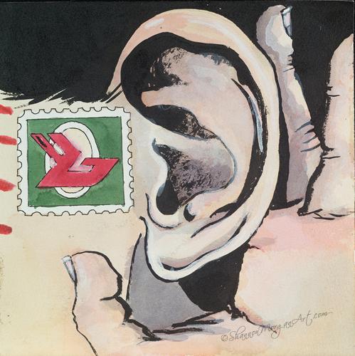 054 Postal Girl - Ear