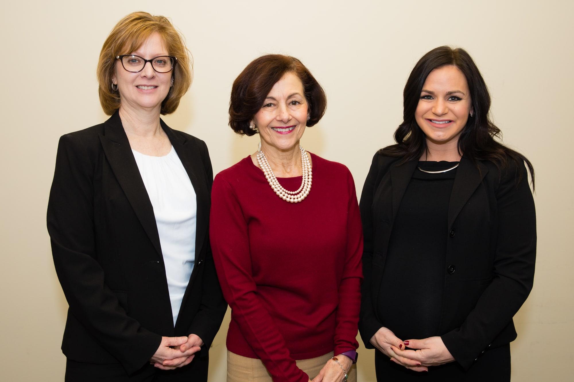 Sandy Guthrie, Carlyn Belcyzk and Erika Mack
