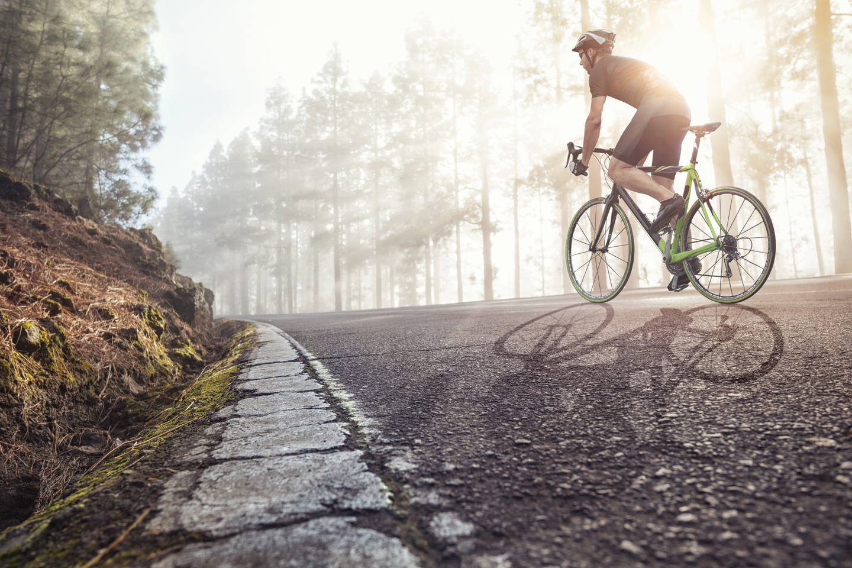 bike rider on street