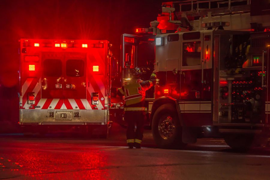 emergency responders after car accident