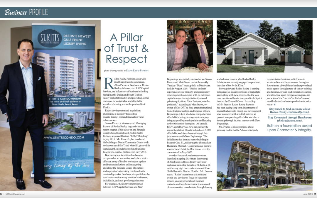 Featured in VIP Destin Magazine (June 2020)