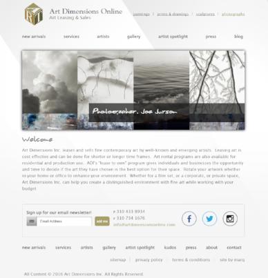 Art Dimensions Online Website
