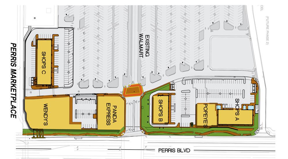 Perris Market Place, Buildings A, Pad B, Shops C, and Select Restaurant Parcels, Civil Engineering Design, Perris, CA