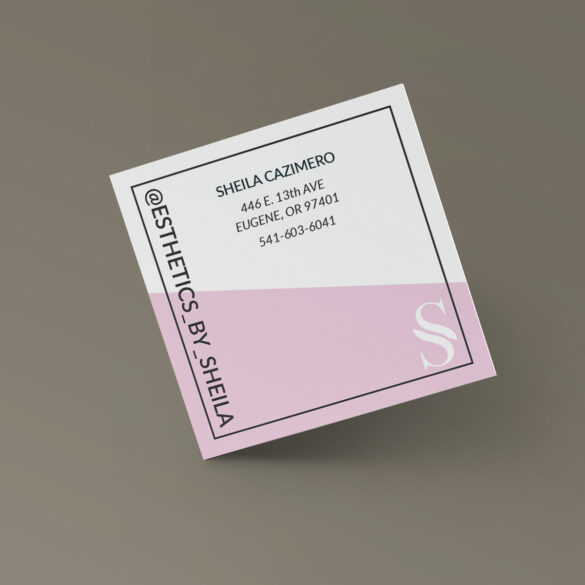 Esthetician Business Cards