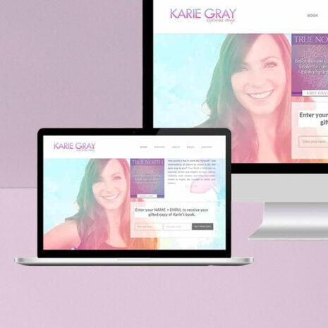 Karie Gray Angelic Reiki MAster Website Design and Development