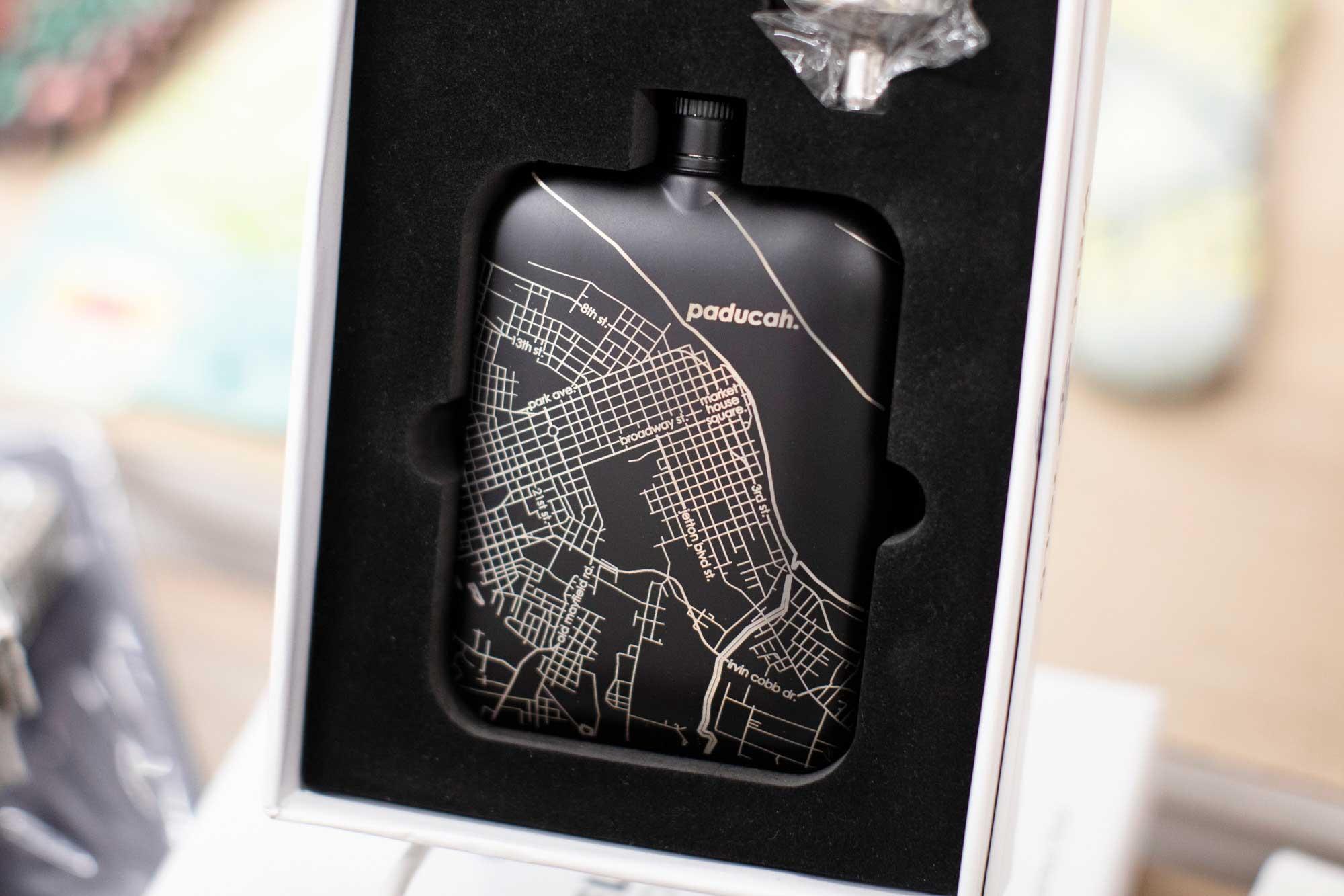 Paducah map flask