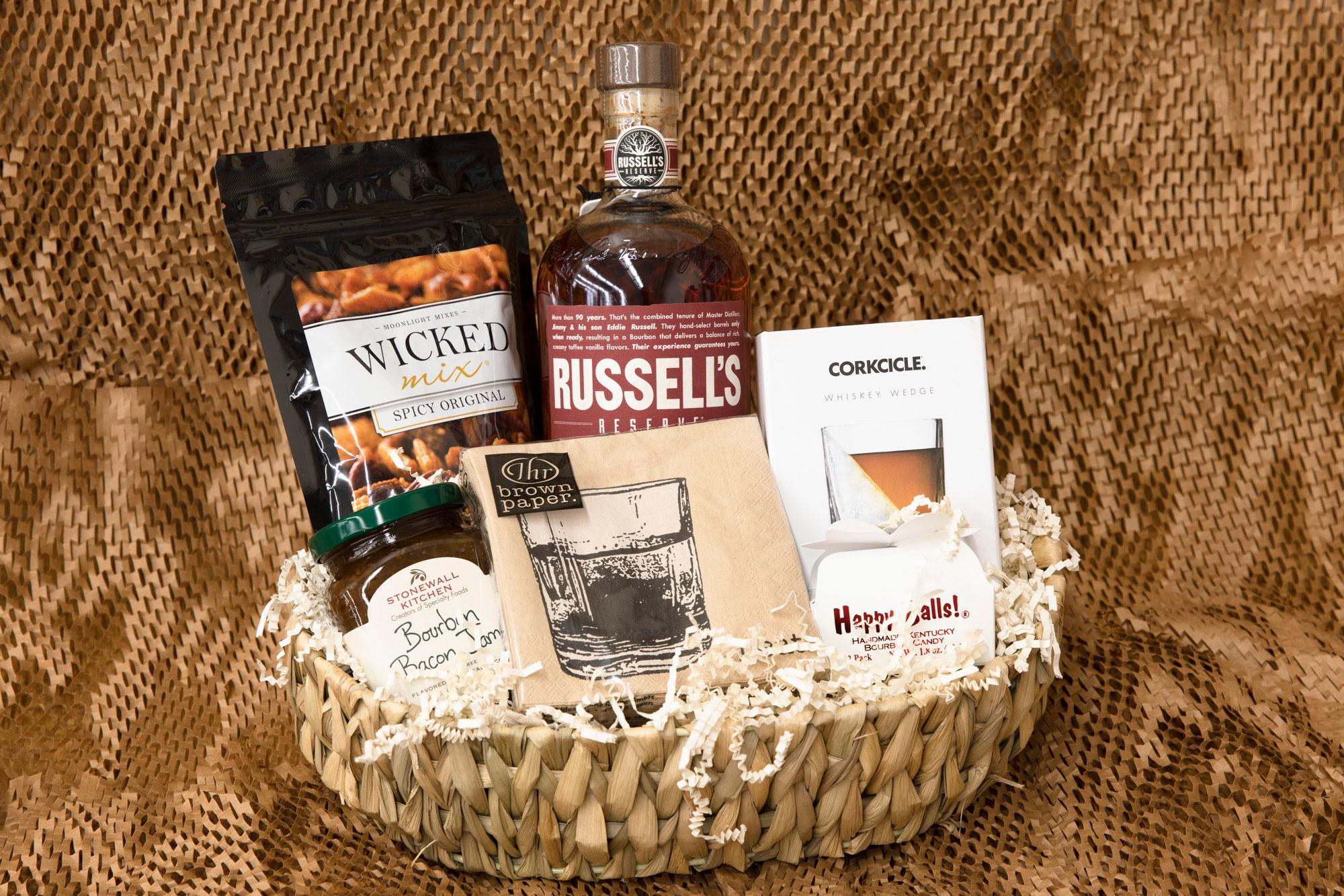 custom gift basket made by Jill Wagner