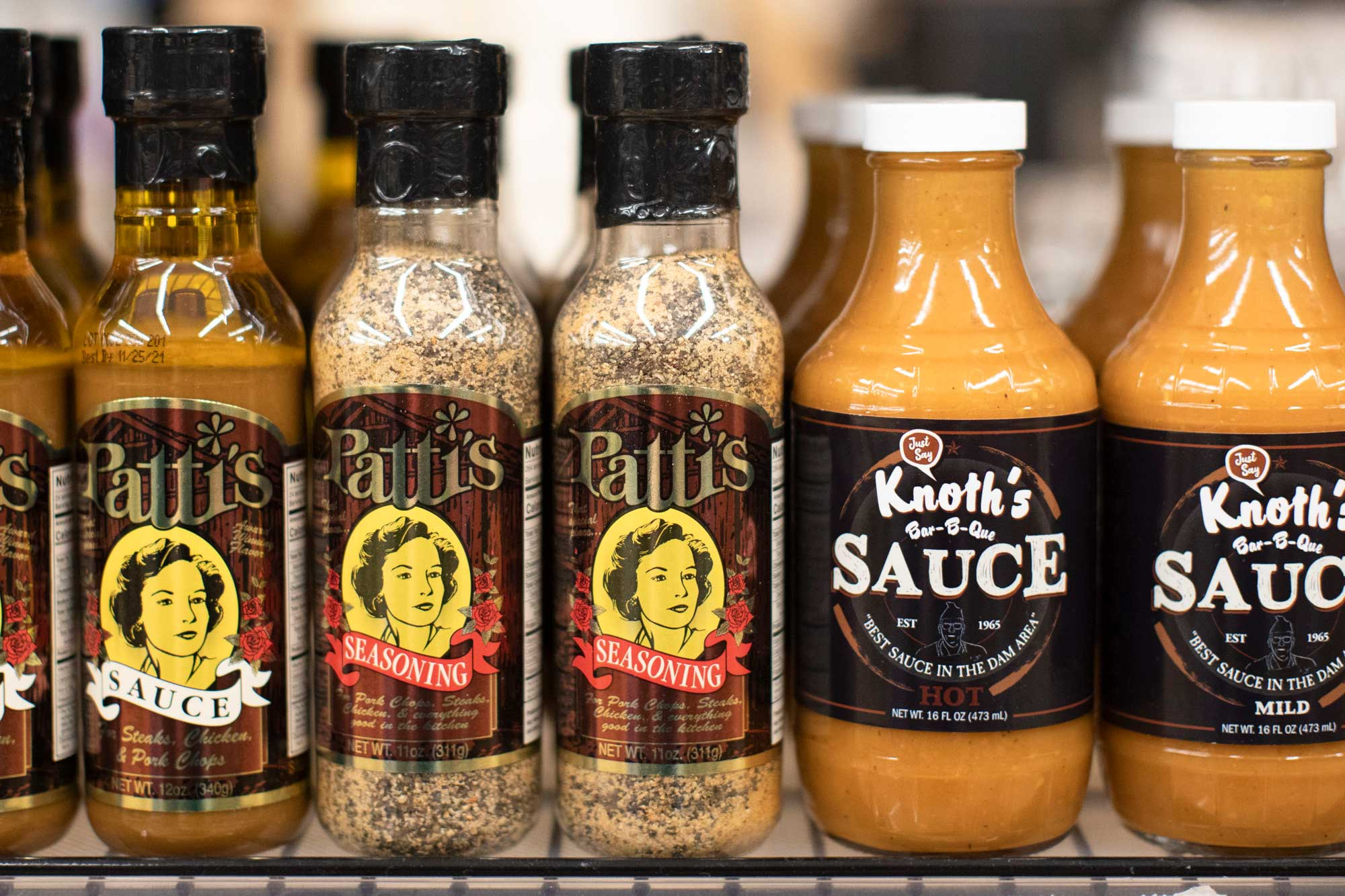 Pattis Seasoning and Knoths BBQ Sauce