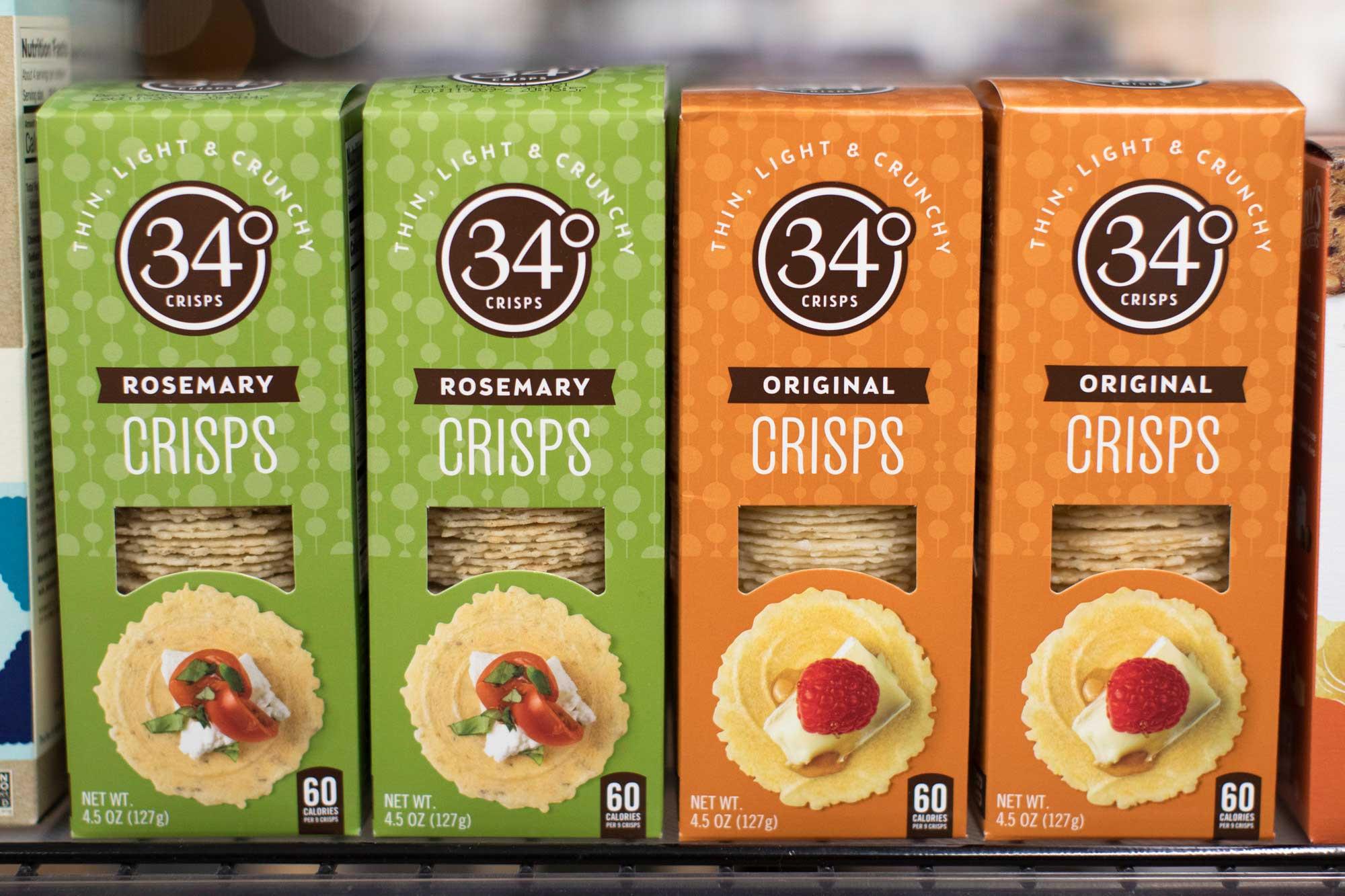 Thin Light and Crunchy 34 degree crisps