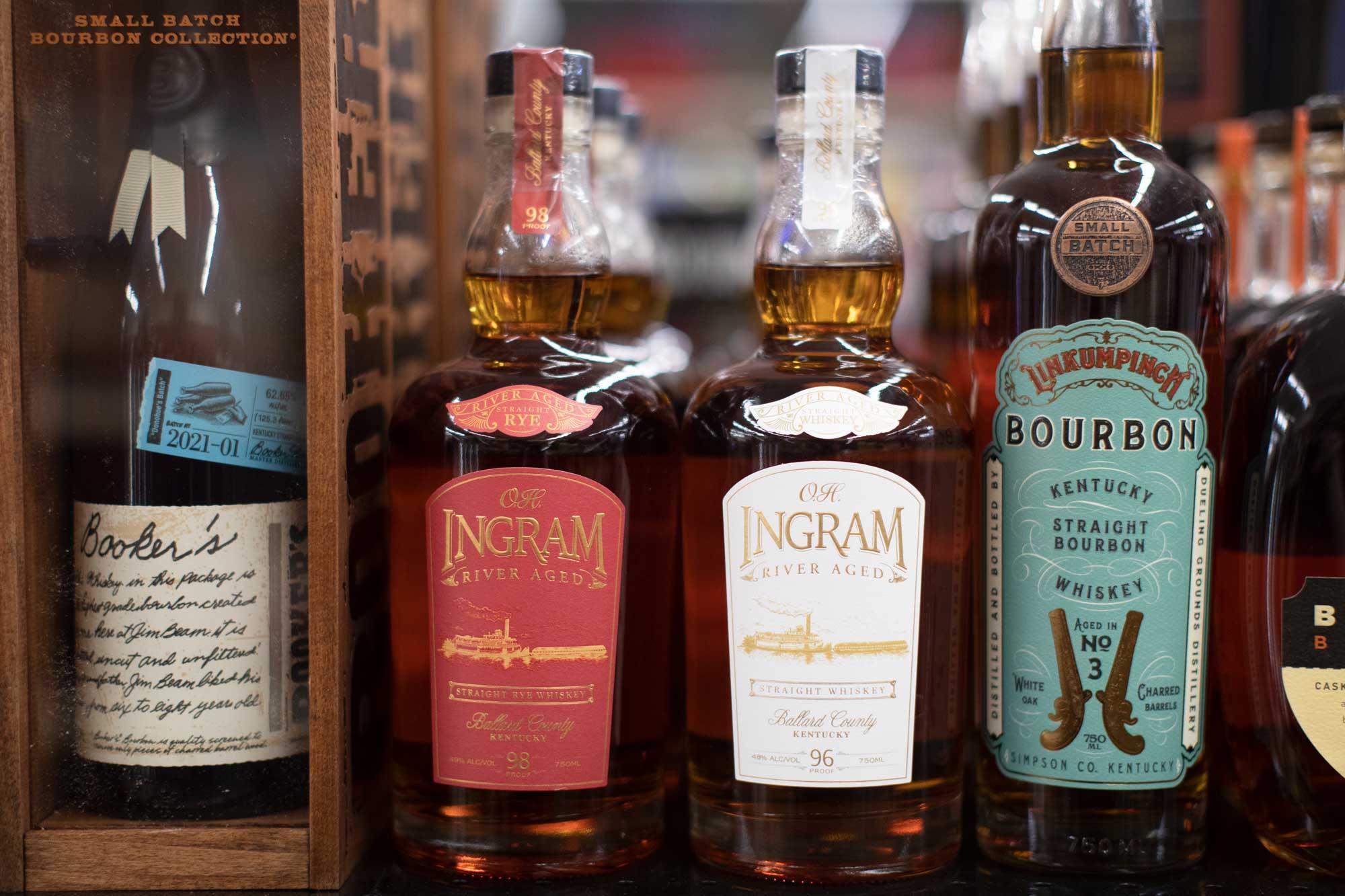 Ingram Whiskey on a shelf