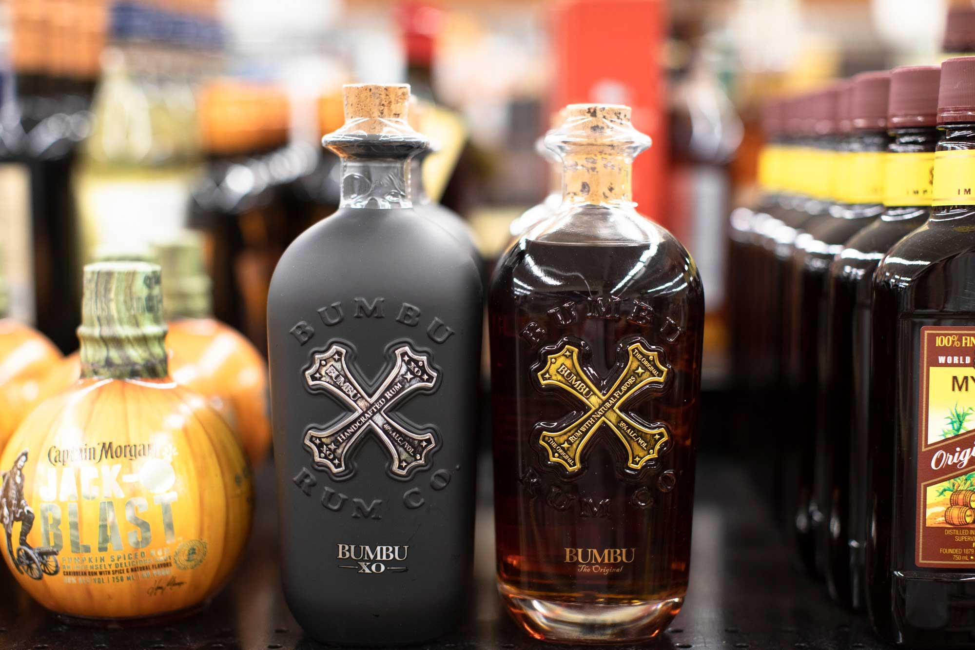 bottles of Bumboo Rum
