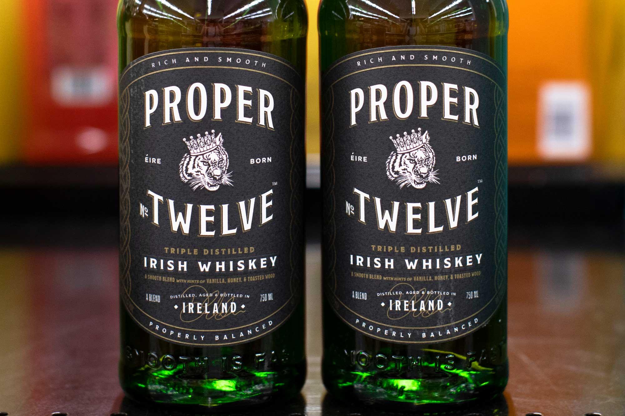 close up of Proper 12 Irish whiskey