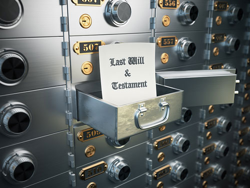 Safe Deposit box representing Wills and Estate Planning