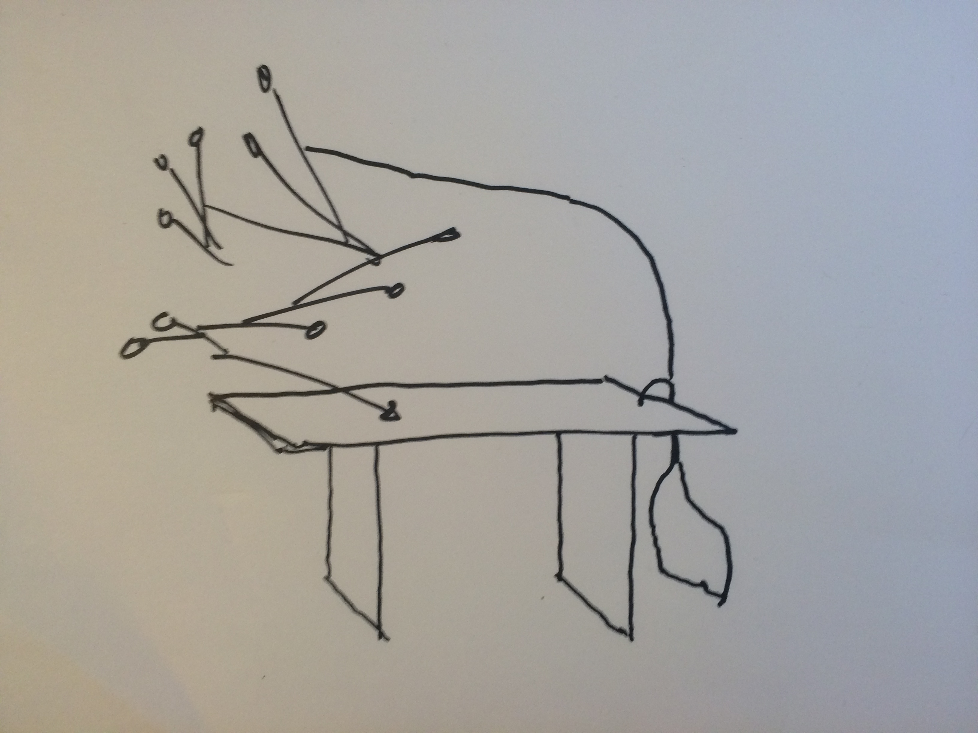 My sketch of this powerful Calder mobile